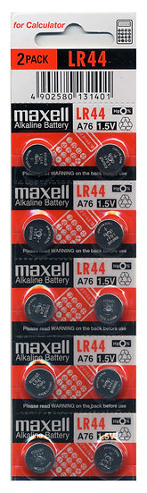 Maxell AG13 / LR44 / A76 / 303 / Button Battery