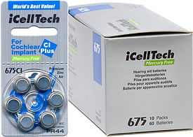 Size 675 Cochlear Implant Hearing Aid Batteries | Ozbatteries