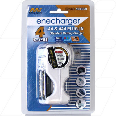 Wall mount overnight Charger including 2 AA batteries