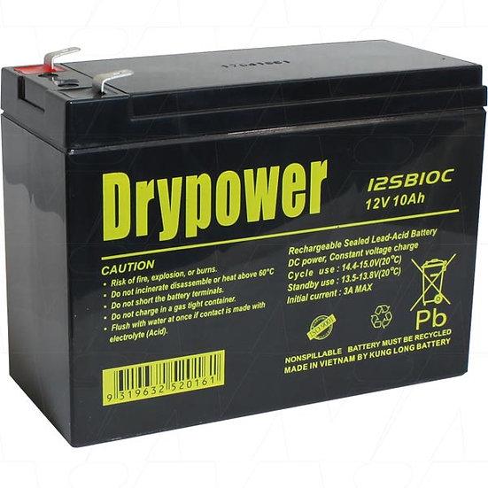 Drypower 12V 10Ah Sealed Lead Acid Battery