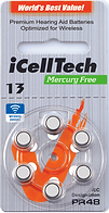 Icelltech Size 13 Hearing Aid Batteries | Ozbatteries