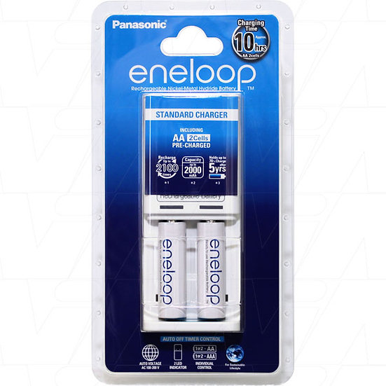 Eneloop Charger 2pc x AA batteries