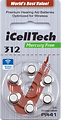 Icelltech Size 312 Hearing Aid Batteries Size 10, Size 13, Size 312, Cochlear
