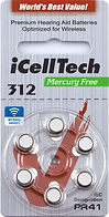 Icelltech Size 312 Hearing Aid Batteries | Ozbatteries