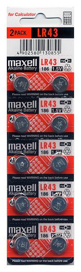 Maxell AG12 / LR43 / 186 / Button Battery