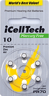 Icelltech Size 10 Hearing Aid Batteries | Ozbatteries