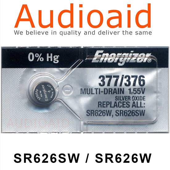 Energizer SR626SW/W SR Batteries Mercury Free