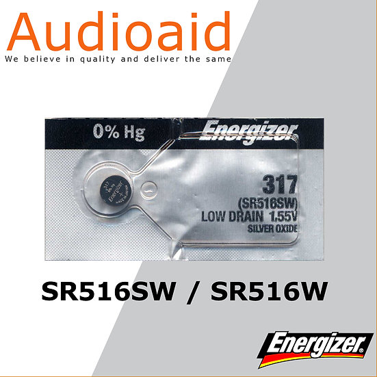 Energizer SR516SW/W SR Batteries Mercury Free