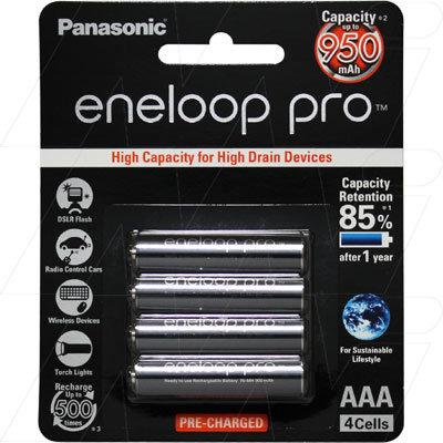 Panasonic Eneloop Pro rechargeable AAA 4pc