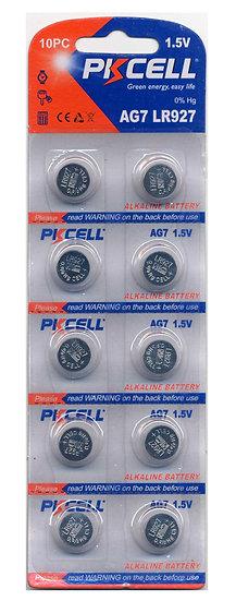 PKCELL AG7 / LR57 Alkaline Button Batteries