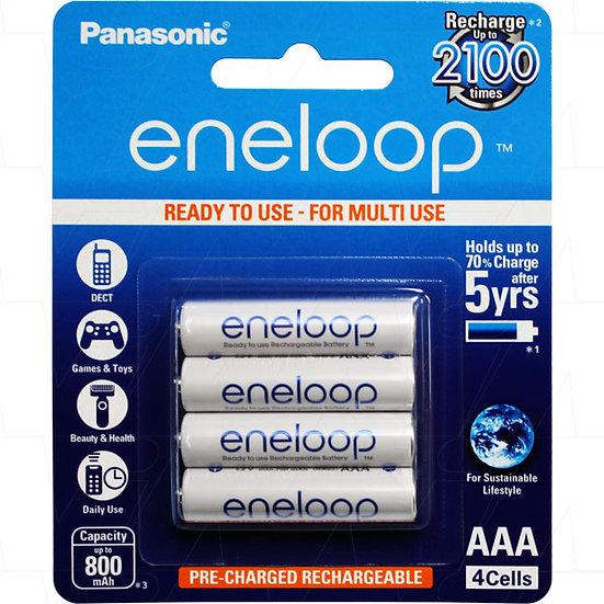 Eneloop rechargeable AAA batteries 4pc