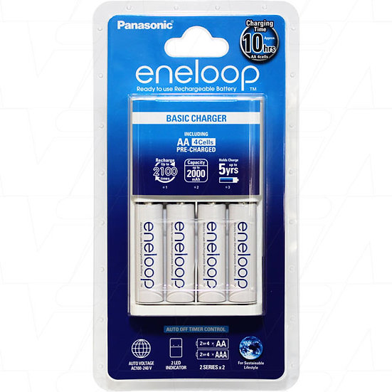Eneloop Charger 4pc x AA batteries