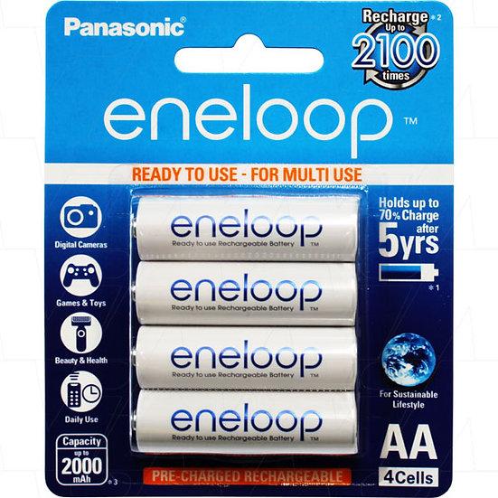 Eneloop rechargeable AA 4pc