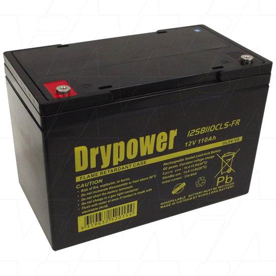 Drypower 12V 110Ah Sealed Lead Acid Battery