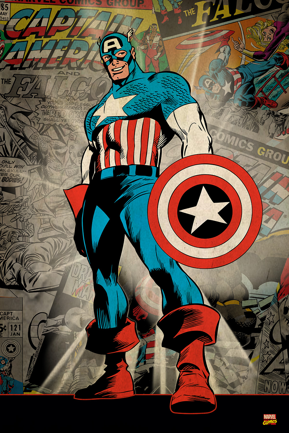 Marvel Captain America  Key Art