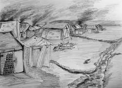 The shantytown outside Dahru
