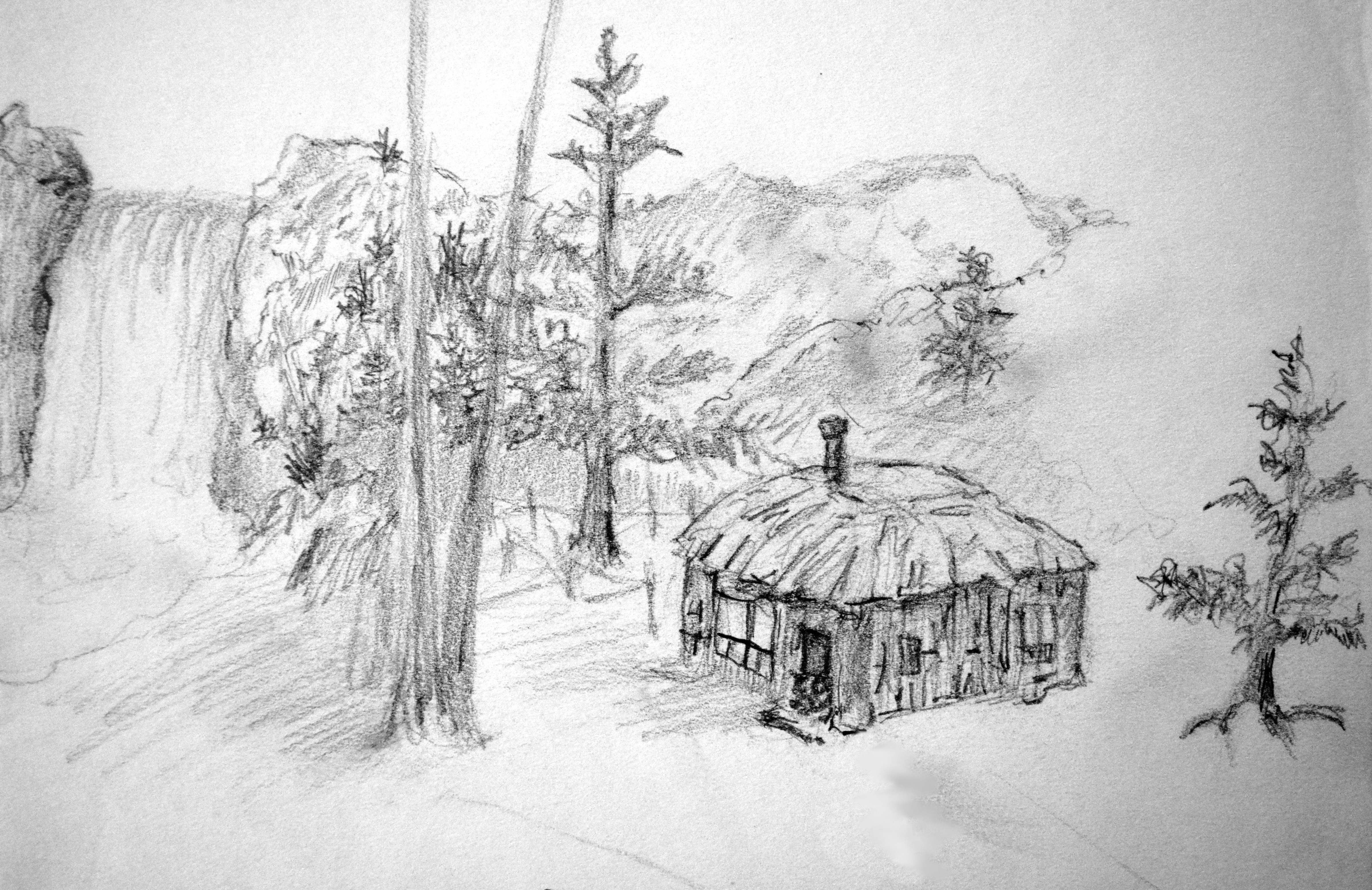 The hut by the Falls