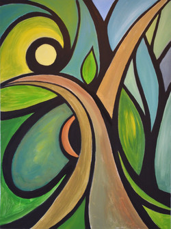 Abstract Triptych 2: Earth/Spring