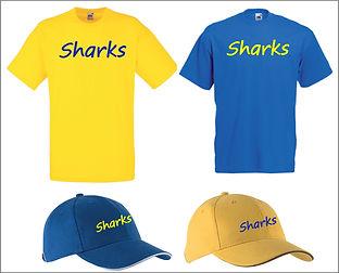 T-shirt et casquette Sharks