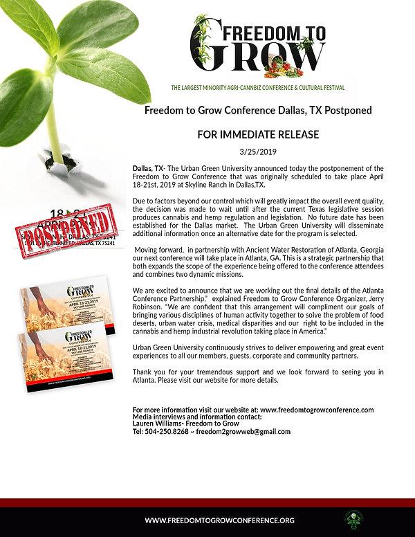 F2G Press Release Postpone Announcement.