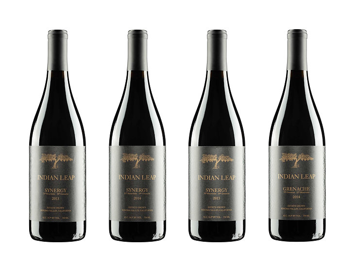4 bottles of Rhône varietals 2013, 2014 and 2015 Synergy and 2014 Grenache