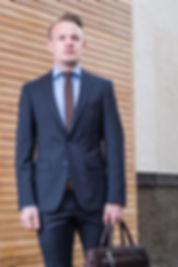 Blauer Business Anzug von aschenbrenner fashion Kirchheim