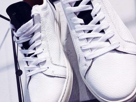 Weiße Echt-Leder Sneaker mit Struktur von SELECTED