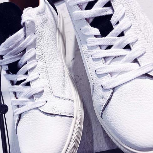 Weiße Echtleder Sneaker von SELECTED