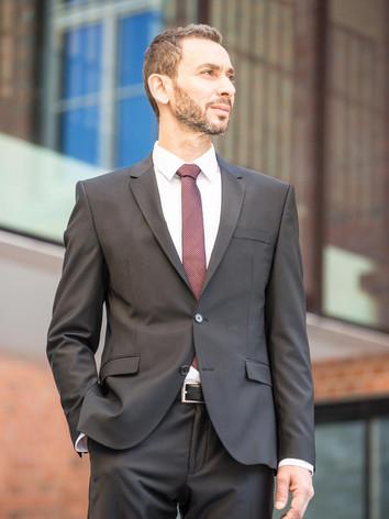 Mix&Match Anzug in grau-braun