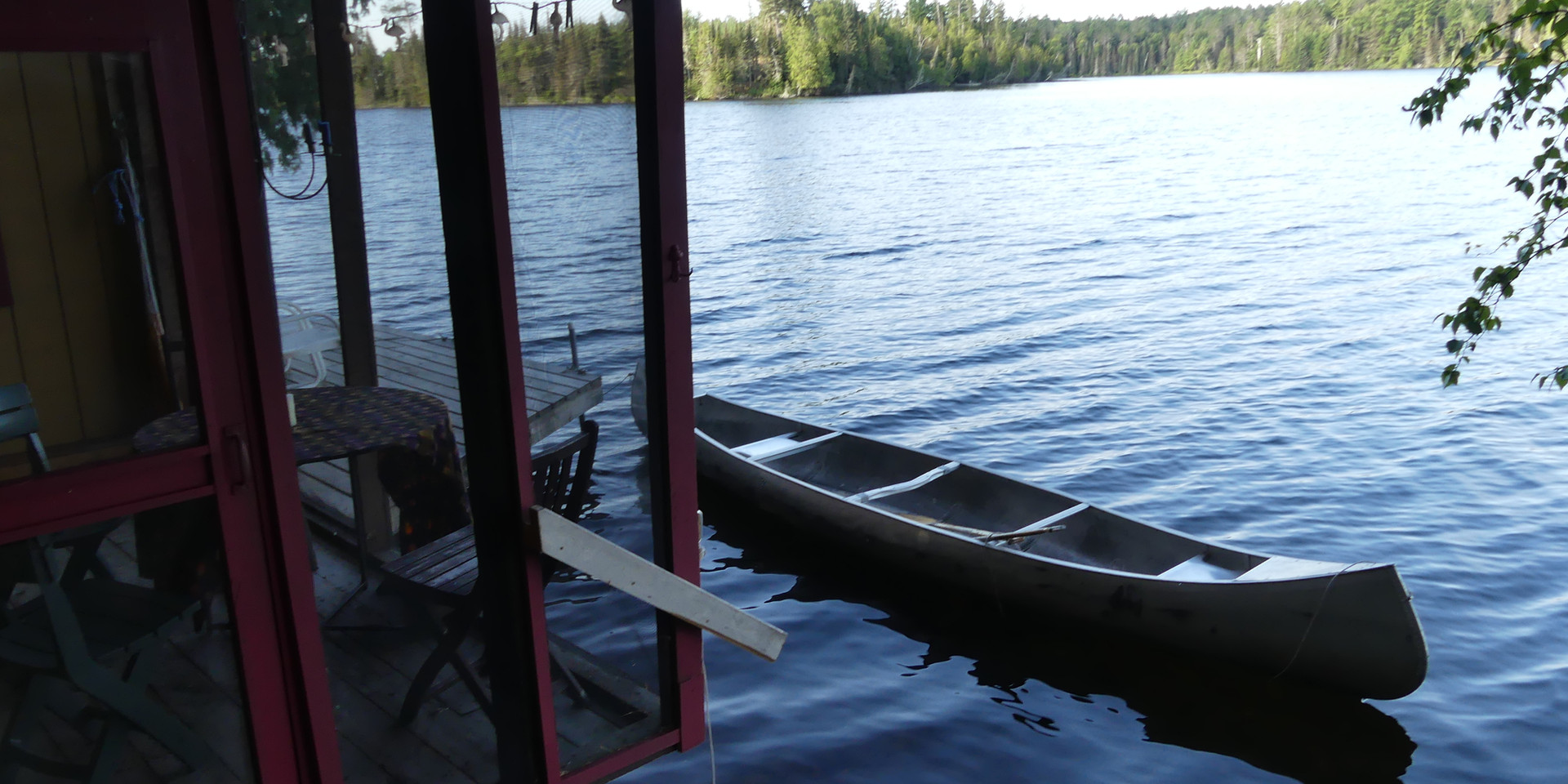 Canoe off the Deck