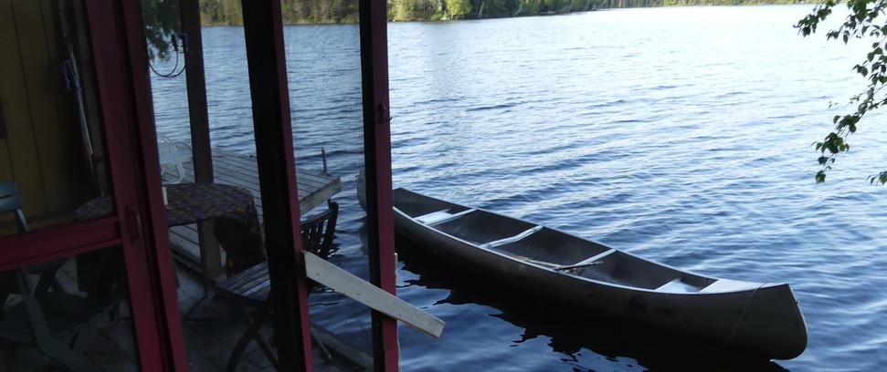 Canoe off the Deck