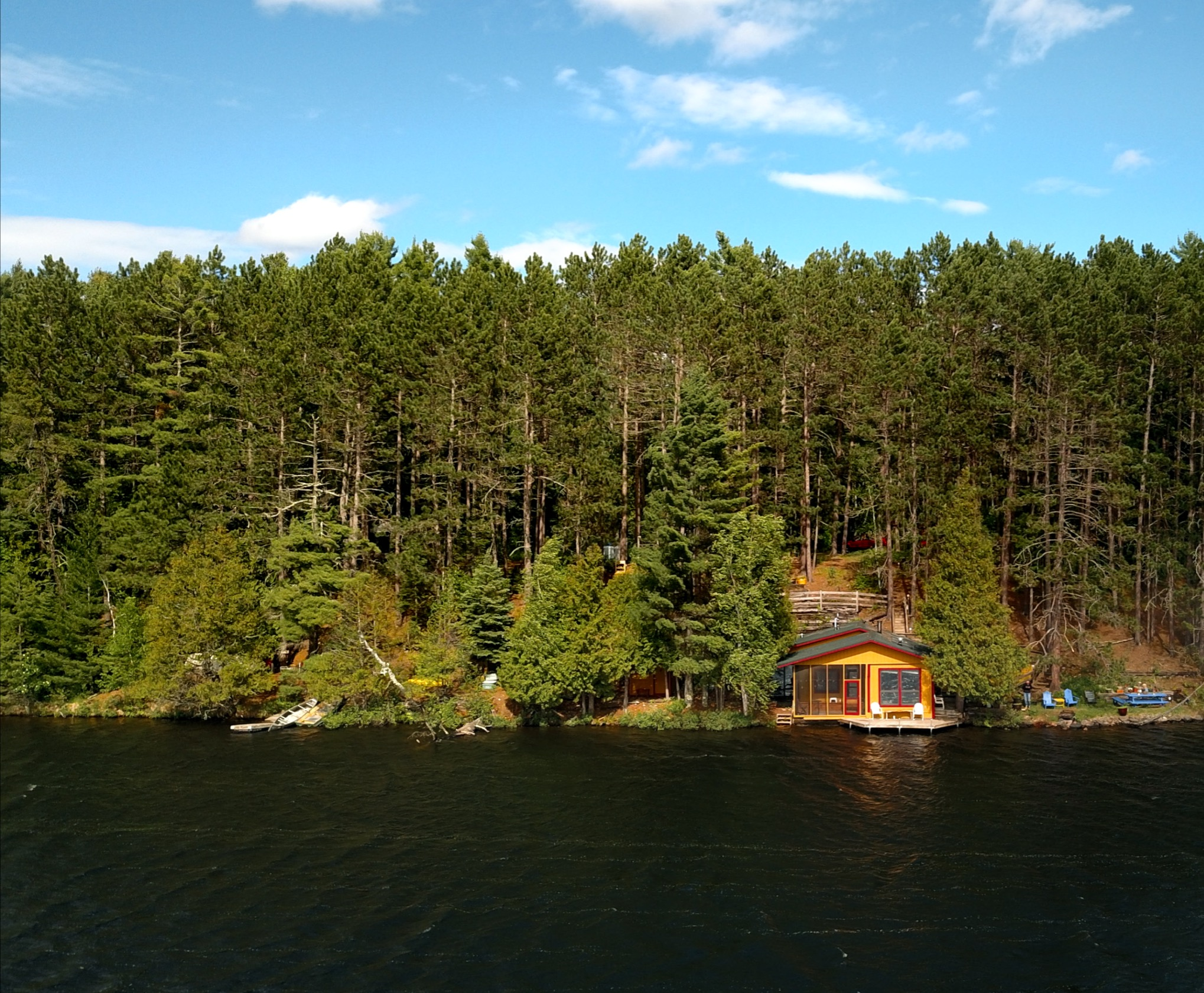 cabin on the lakeshore