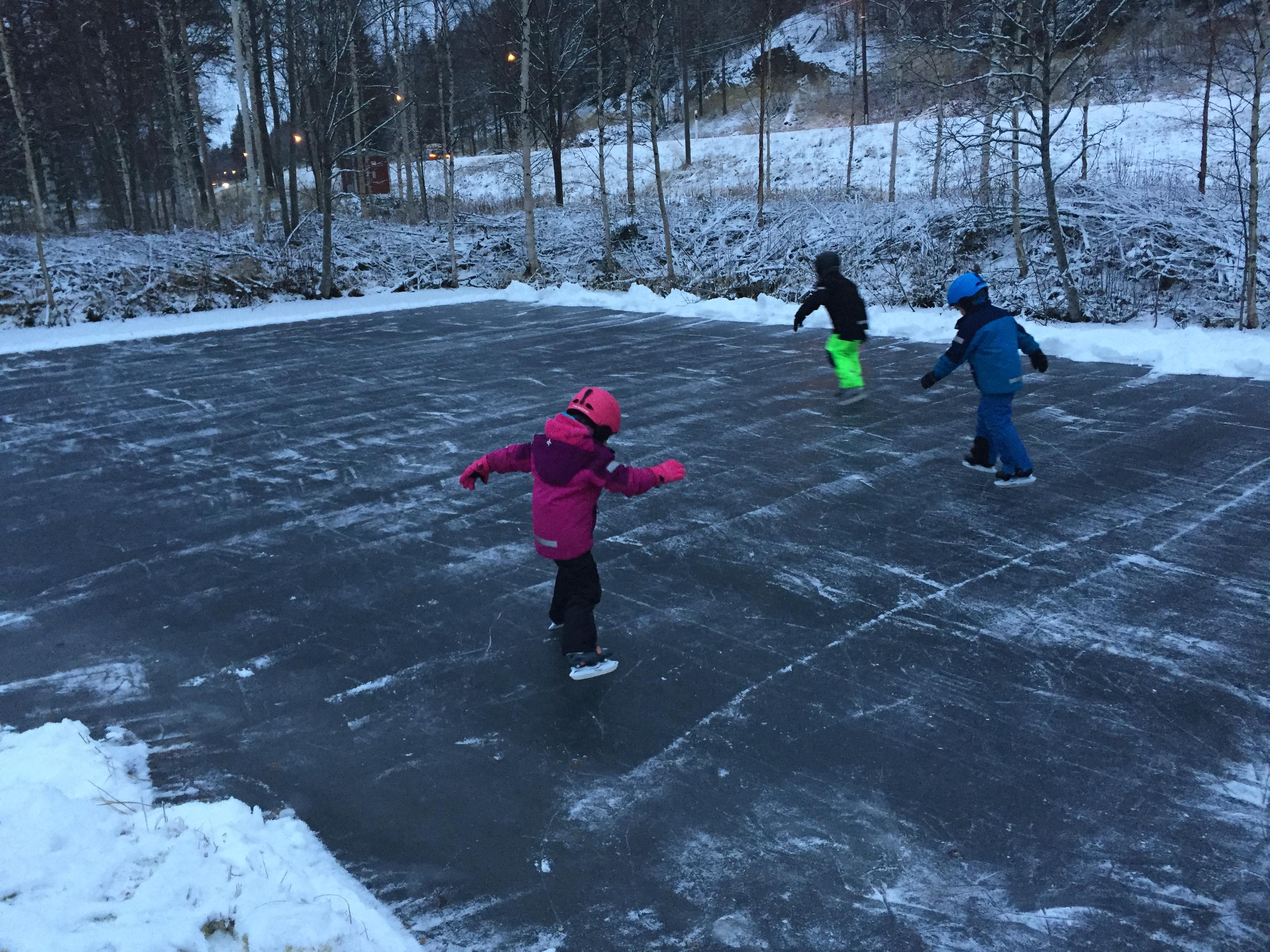 33 Ice skating in the garden
