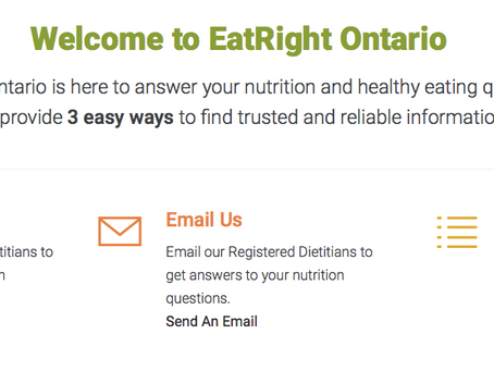"""""""Eat Right Ontario"""" is there to answer all your healthy eating questions!"""