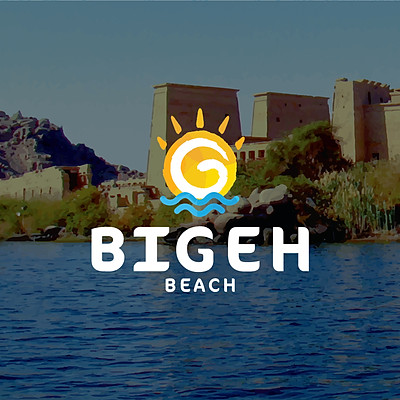 Bigeh Beach Logo Design