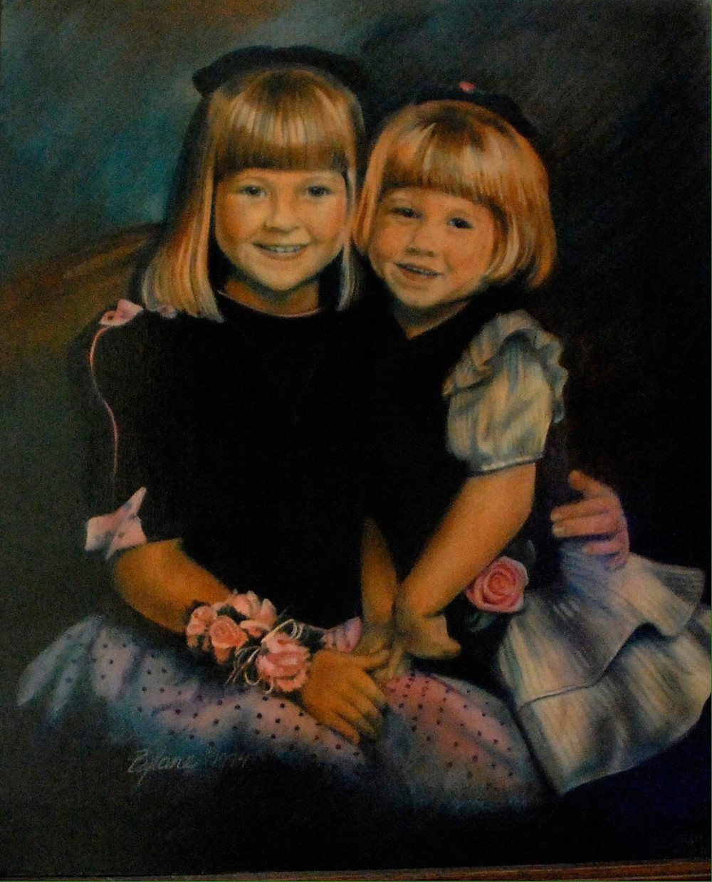 Portrait of 2 young sisters by Bjlane
