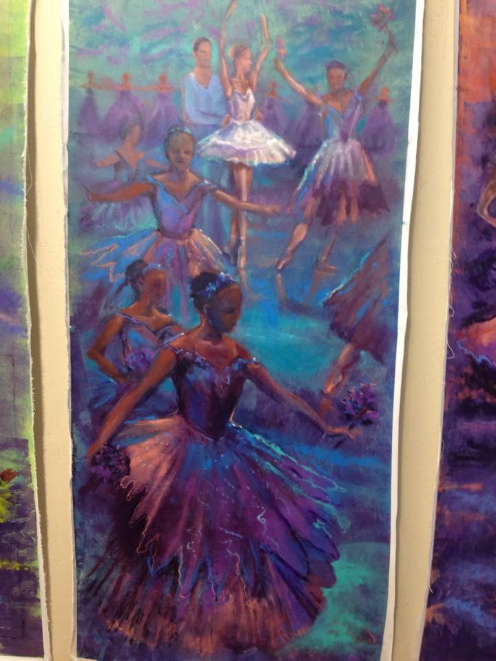 ballet paintings - at the L.A.County Fair 2015