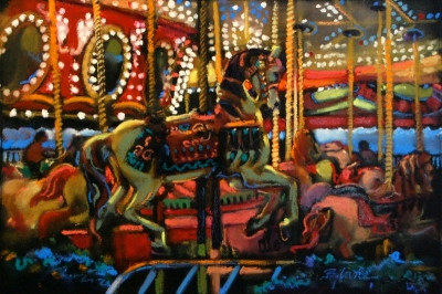 A stop at the carousel . . .