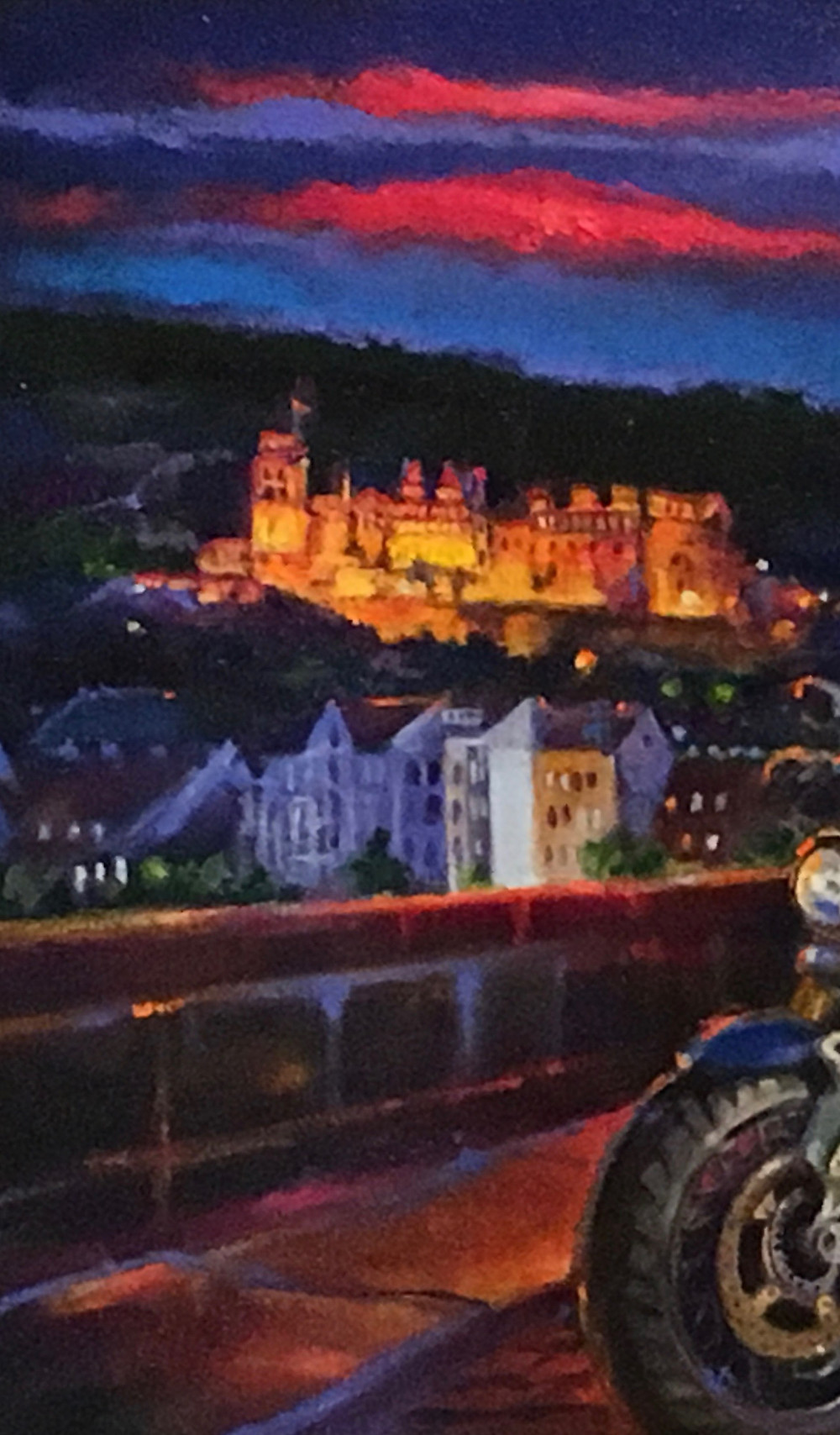 """The Knight of Heidelberg-oil on canvas-18""""x24"""" partial view by Bjlane"""