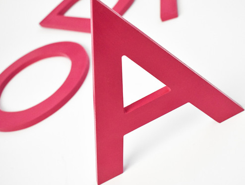 letra caixa em pvc expandido | formula comunicação visual
