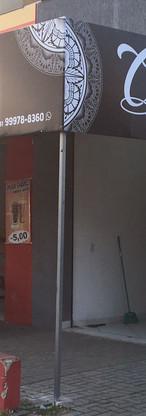 placa em lona, fachada em lona