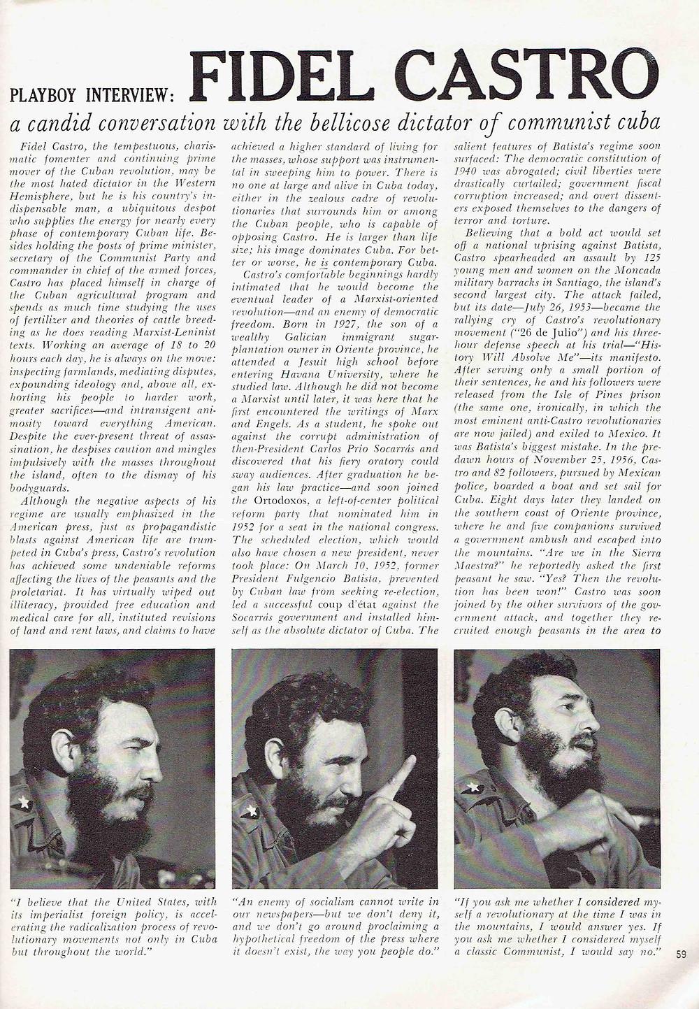 Abel Sierra Madero. Fidel Castro. El comandante Playboy