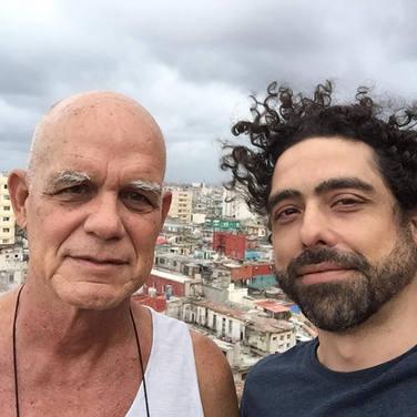 Abel Sierra Madero with Pedro Juan Gutiérrez (Havana, 2015)