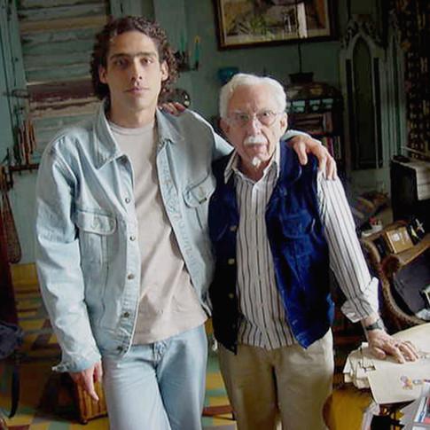 Abel Sierra Madero with Cuban theater director Ramiro Guerra (Havana, Circa 2004)