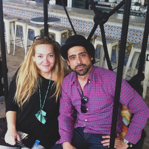 Abel Sierra Madero and Cuban artist Sandra Ramos (Miami, 2017)