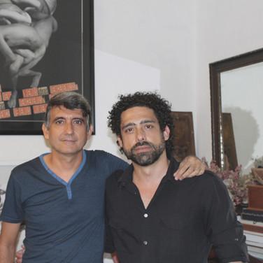 Abel Sierra Madero and Cuban artist Eduardo Hernández (Havana, 2015)