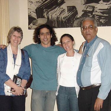 Abel Sierra Madero with Gisela Cánepa, Claudia Briones and Eduardo Torres Cuevas, members of Premio Casa de las Américas's 2006 comitee (Havana, 2006)