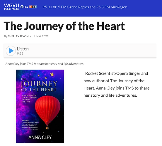 WGVU The Journey of the Heart - Anna Cley