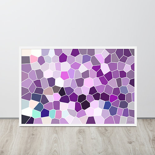 'Purple Cell' - Framed photo paper poster,2 sizes