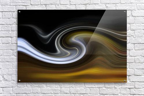 Lava Wave Caramel - Acrylic Print 24x36